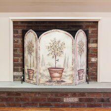 <strong>Stupell Industries</strong> Orange and Lemon Trees 3 Panel MDF Fireplace Screen