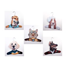 Animal Grayhound / Teacher Yellow Lab / Chef Bassett House / Salesman Doberman / Pilot Cat Clothing (Set of 5)