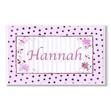 Kids Room Personalization Polka Dot Wall Plaque