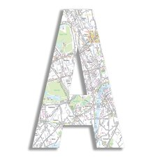 Oversized London Map Letter Hanging Initials