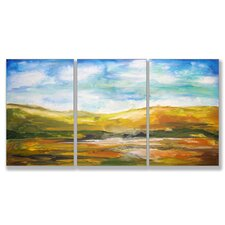 <strong>Stupell Industries</strong> Home Décor Painted Horizons Triptych Art