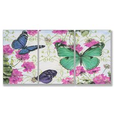 Home Décor Butterfly Inspirations Triptych Art