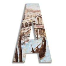 Oversized Venice Scene Letter Hanging Initials