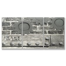 <strong>Stupell Industries</strong> Home Décor Industrial USA Triptych Art