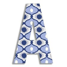 Oversized Ikat Letter Hanging Art