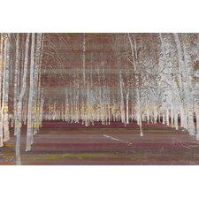 Night Birch Painting Print on Canvas