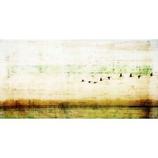 Birds Flying Painting Print on Canvas