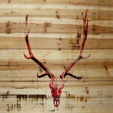 Hot Temper Graphic Art Plaque on Natural Pine
