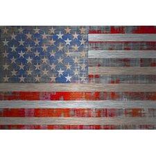 American Dream Graphic Art Plaque on Aluminum