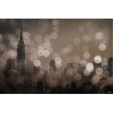 New York Sleeping Graphic Art on Canvas