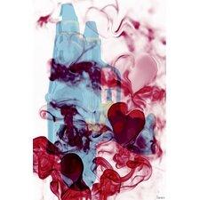 Love Hate by Parvez Taj Graphic Art on Canvas