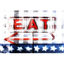 Eat by Parvez Taj Graphic Art on Canvas