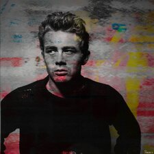 James Dean - Torn Sweater 1 by Parvez Taj Graphic Art on Canvas
