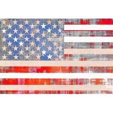 American Dream Graphic Art on Canvas