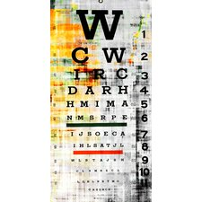 Eye Chart Graphic Art on Canvas