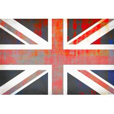 Union Jack by Parvez Taj Graphic Art on Canvas