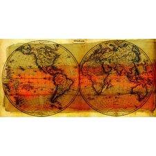 Globe Trotting Graphic Art on Canvas