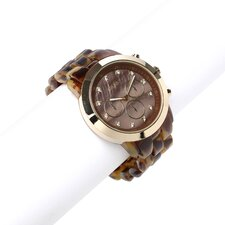 Women's Brooke Oversized Mother of Pearl Watch in Tortoise / Gold