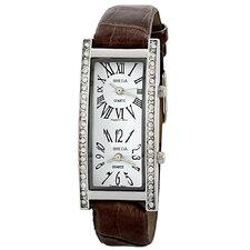Women's Nicola Dual Time Zone Classic Watch in Brown