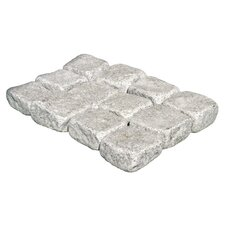 "Tumbled Granite 4"" x 4"" x 2"" Cobblestones in Bianco Catalina"