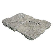"Tumbled Granite 4"" x 4"" x 2"" Cobblestones in Impala Black"