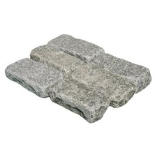 "Tumbled Granite 4"" x 8"" x 2"" Cobblestones in Impala Black"