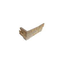 "Sandstone 6"" x 18"" x 6"" Natural Ledge Stone Corner in Fossil Rustic"