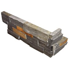 "<strong>Cabot</strong> Slate 6"" x 18"" x 6"" Natural Ledge Stone Corner in Charcoal"
