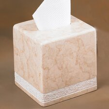 Champagne Marble Hand Carved Tissue Box Holder