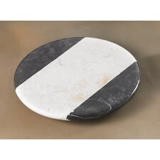The Byzantine Two Tone Marble Lazy Susan