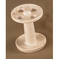 Champagne Marble Pedestal Tooth Brush Holder