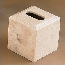 Champagne Marble Pedestal Tissue Box Holder