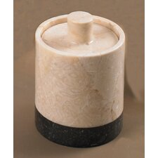 <strong>Creative Home</strong> Champagne Marble Inverary Banded Cotton Ball Holder