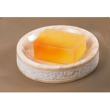 Champagne Marble Hand Carved Soap Dish