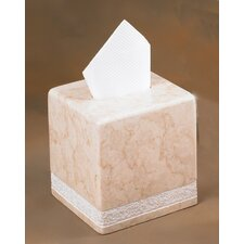 Champagne Marble Spa Hand Carved Tissue Box Holder