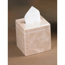 Champagne Marble Notch Tissue Box Holder