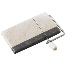 <strong>Creative Home</strong> The Byzantine Two Tone Marble Cheese Slicer in Charcoal / Champagne