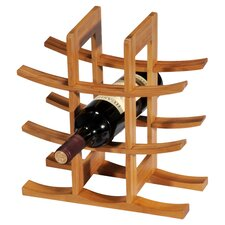 Bamboo 9 Bottle Tabletop Wine Rack