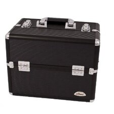 <strong>Sunrise Cases</strong> Striped 3 Tier Aluminum Makeup Case