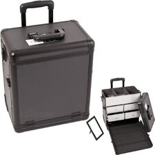 <strong>Sunrise Cases</strong> Dot Pattern Interchangeable Professional Rolling Makeup Train Case