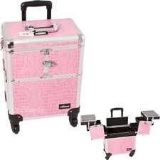 Crocodile Pattern Professional Rolling Cosmetic Makeup Train Case