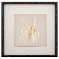Gold Leaf Octopus Framed Graphic Art