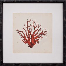 Mini Red Coral VII Framed Graphic Art