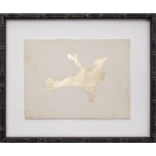 Gold Leaf Bird IX Framed Graphic Art