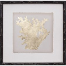 Mini Gold Leaf Coral I Framed Graphic Art