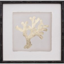 Mini Gold Leaf Coral II Framed Graphic Art