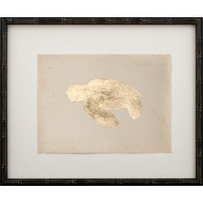 Gold Leaf Turtle - Left Facing on Paper Framed Graphic Art