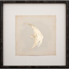 Gold Leaf Fish I Framed Graphic Art