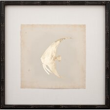 Gold Leaf Fish II Framed Graphic Art