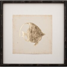Gold Leaf Fish III Framed Graphic Art